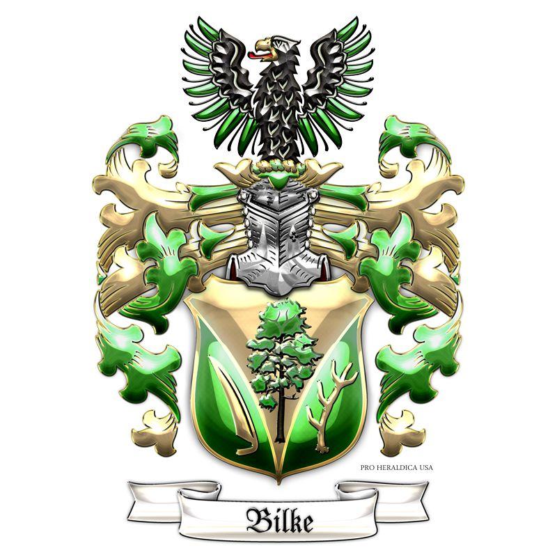 Family Heraldry Bilke Family Coat Of Arms 3d By Serge Averbukh C 7 Design Studio For Proheraldica Usa Brasao Brasao De Familia Escudo