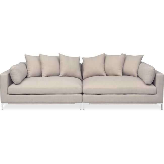 Moda 2 Piece Sofa Ivory Value City Furniture And Mattresses
