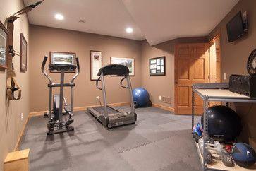Traditional Home Gym via College City Design Build