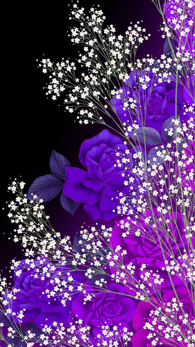 See more ideas about beautiful wallpapers, pretty wallpapers, galaxy wallpaper. Flowers Simple Aesthetic H5 Black Background Material ...
