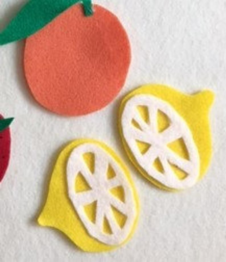 PDF PATTERNS ONLY Fruits and Veggies Patterns For Felt Board or Flannel board