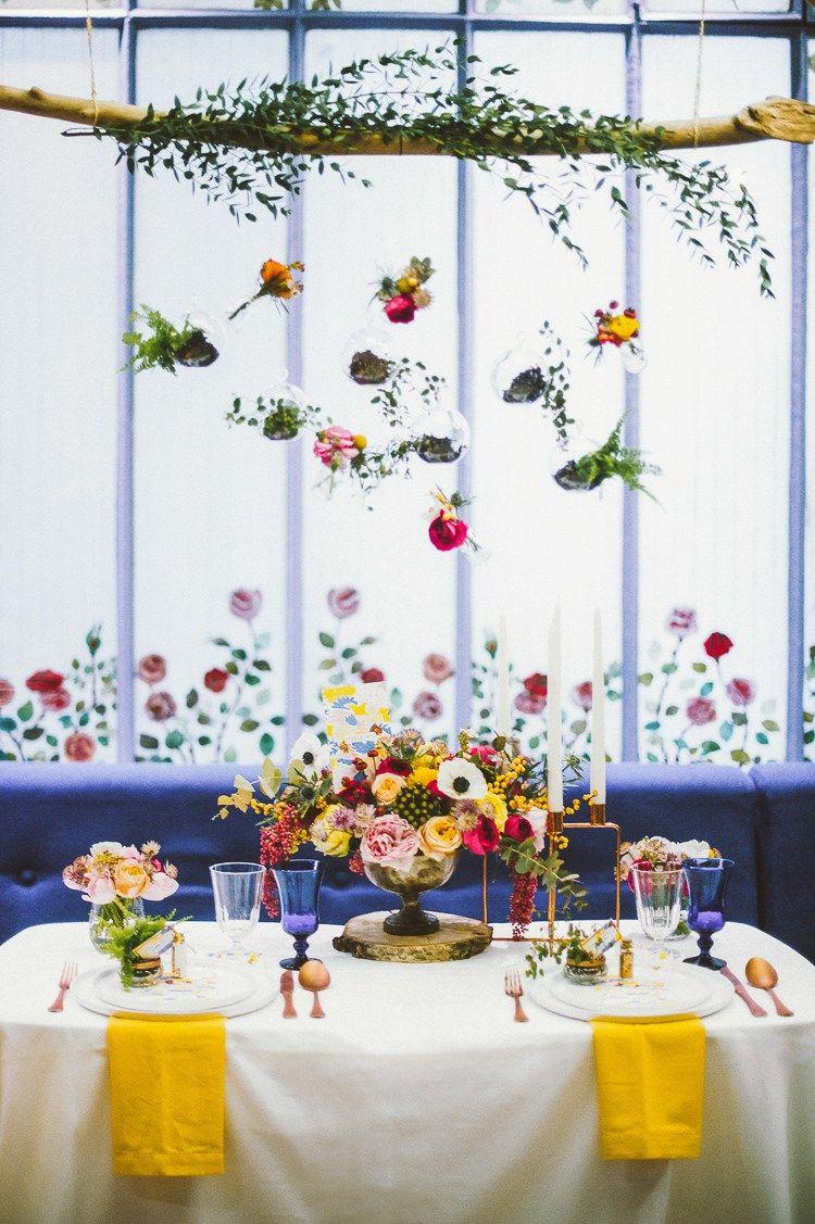 Whimsical & Vibrant Multicolour Wedding Ideas | Hanging flowers ...