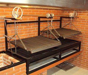 Asador estilo argentino patio grill bbq ideas for Asadores para jardin de ladrillo