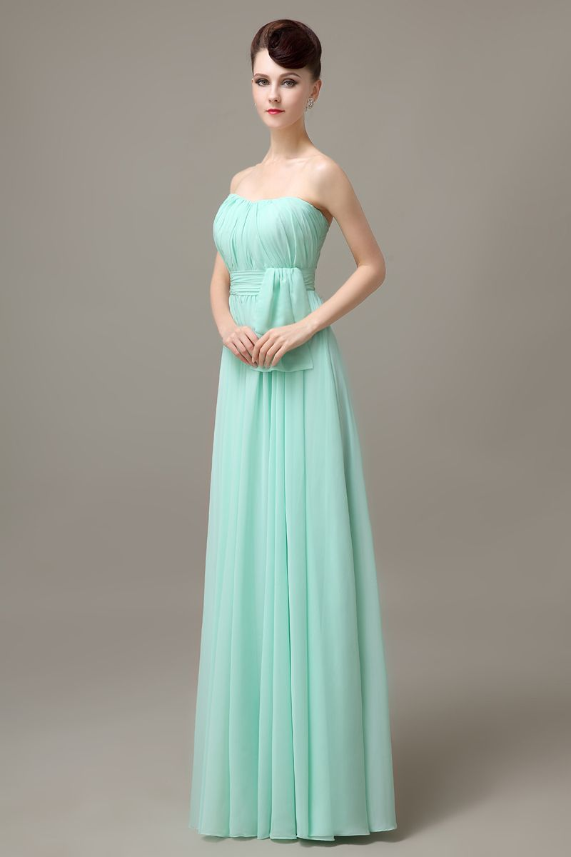 e6a4506cc82 mint strapless long cheap simple discount chiffon bridesmaid dress wedding  guest dress for bridesmaid 2016 plus size BD461