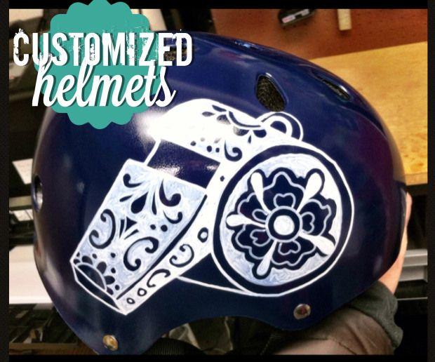 DIY Customized Helmets | busy mockingbird