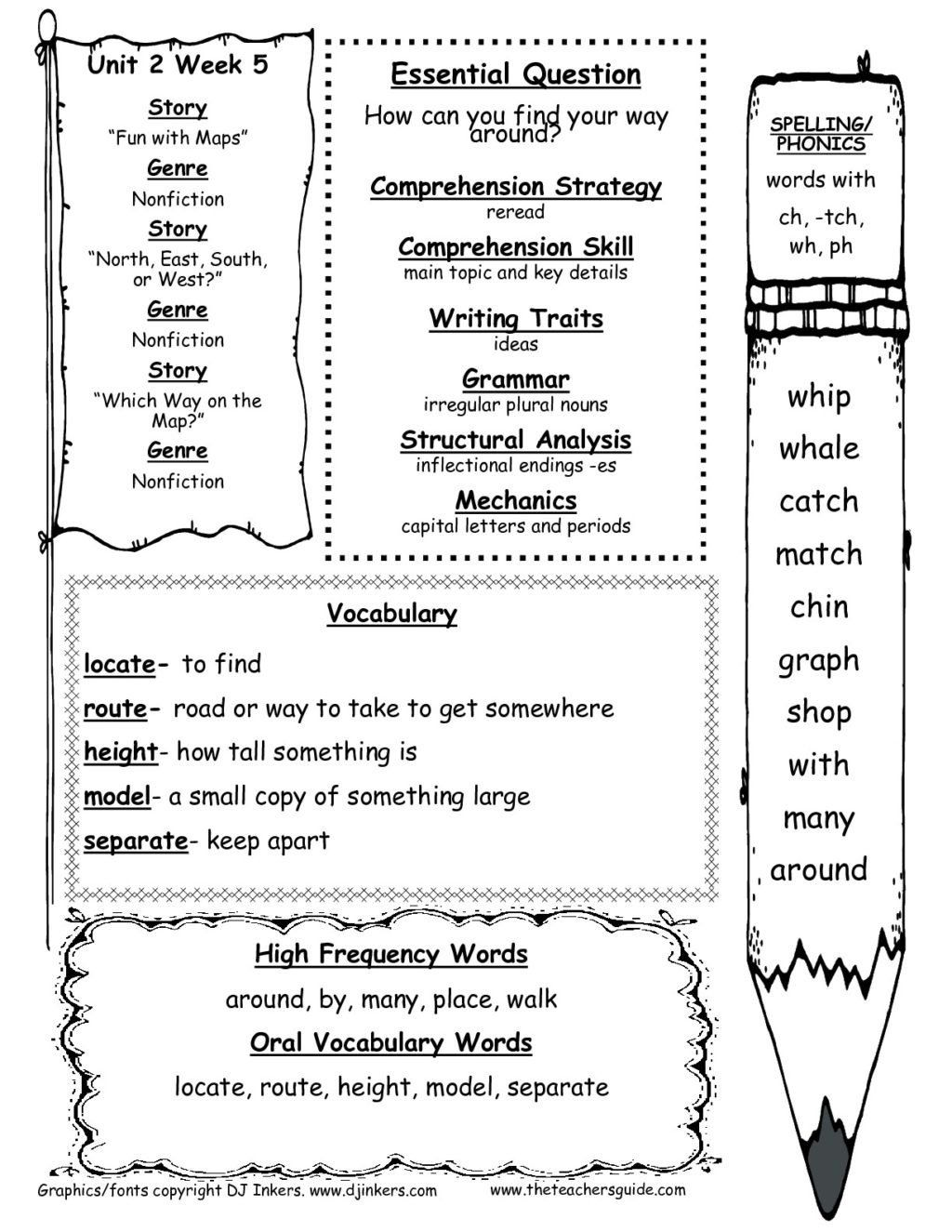 Free Map Skill Worksheets Worksheet Worksheet Free Worksheets for 2nd Grade    First grade worksheets [ 1325 x 1024 Pixel ]