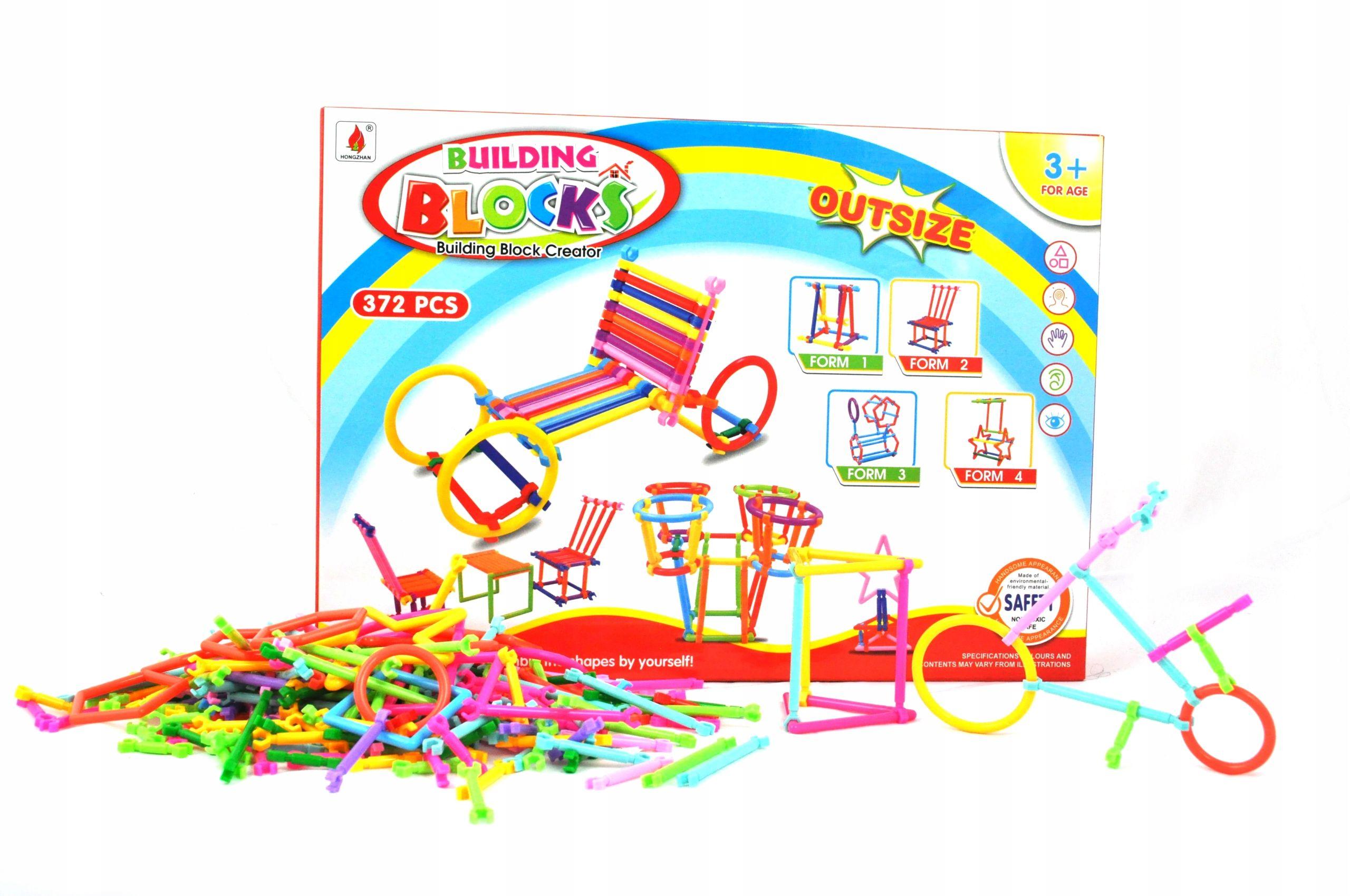 Klocki Przestrzenne Smart Stick Patyczki 372el 7661272006 Oficjalne Archiwum Allegro Building Blocks Stick Smart