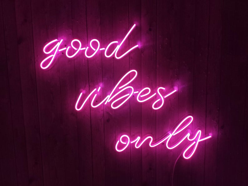 Good Vibes Only Unbreakable Neon Sign Neon Letters Etsy In 2020 Neon Signs Pink Neon Sign Neon Aesthetic
