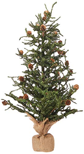 Vickerman Carmel Colored Pine Tree With Pine Cones And 684 Tips With Burlap Base 30 Inch Xmas Tree Xmas Tree Shop Metal Christmas Tree Metal Christmas Tree Stand