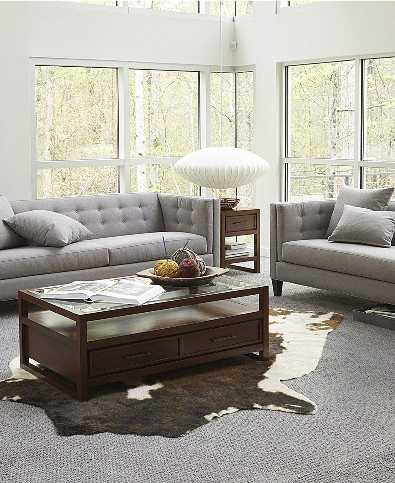 braylei track arm sofa collection, created for macy's | grey