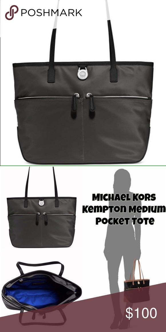 2880b2eb99e8 Michael Kors Kempton Small Pocket Crossbody Michael Kors Gray Medium  Kempton Tote Lovely bag for any occasion! Nylon bag with leather Reversible  ...