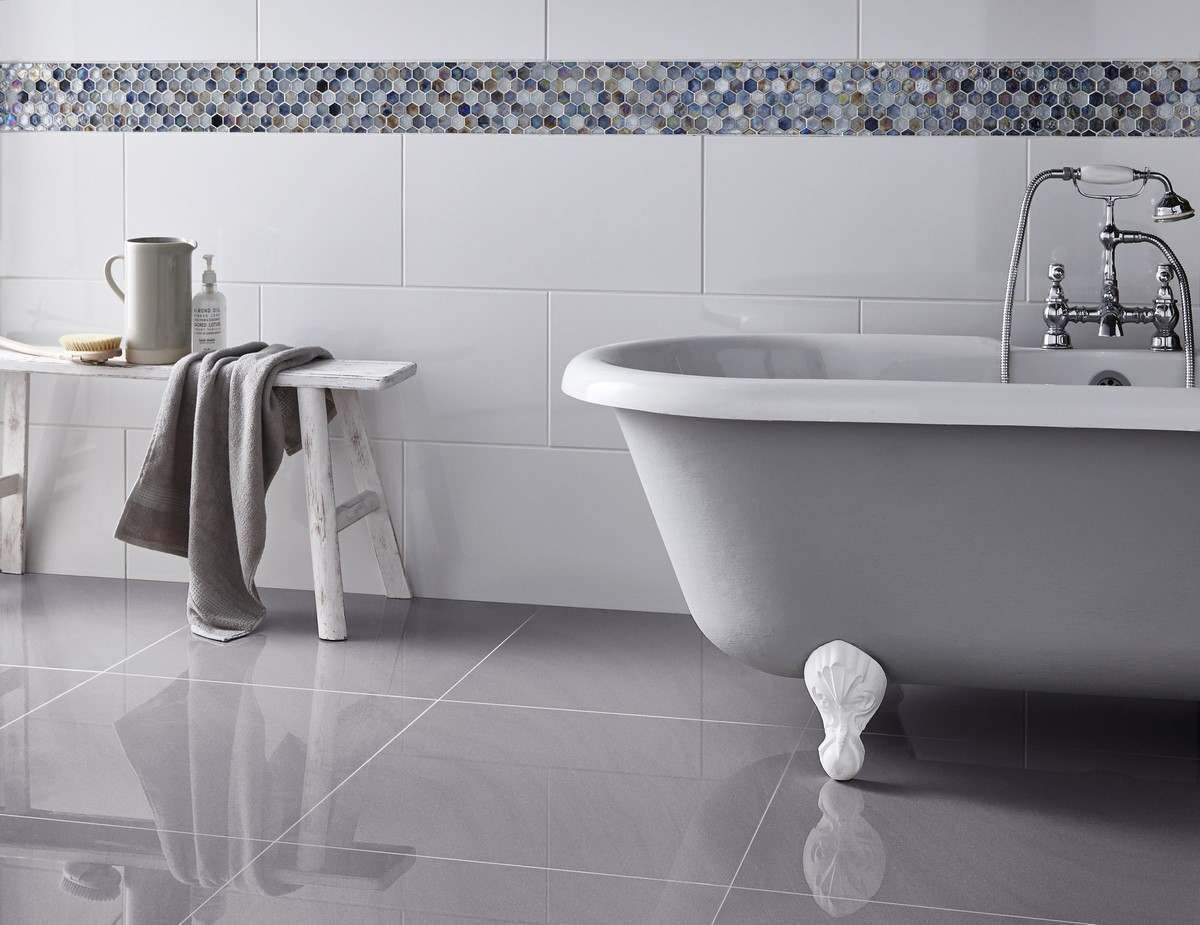 Victoria Rectified Gloss Brilliant White Wall Tile Wall
