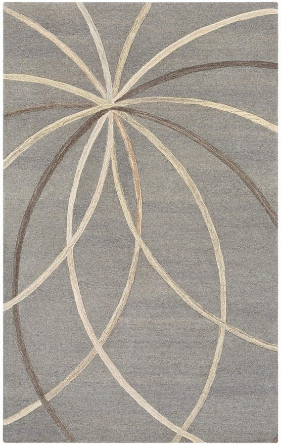 Surya Forum Fm 7217 Medium Gray 10 X 14 Area Rug Wool Area