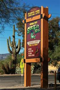Satisfied Frog Cave Creek Az Fun Restaurant Is A Nice Escape From Crowded Phoenix