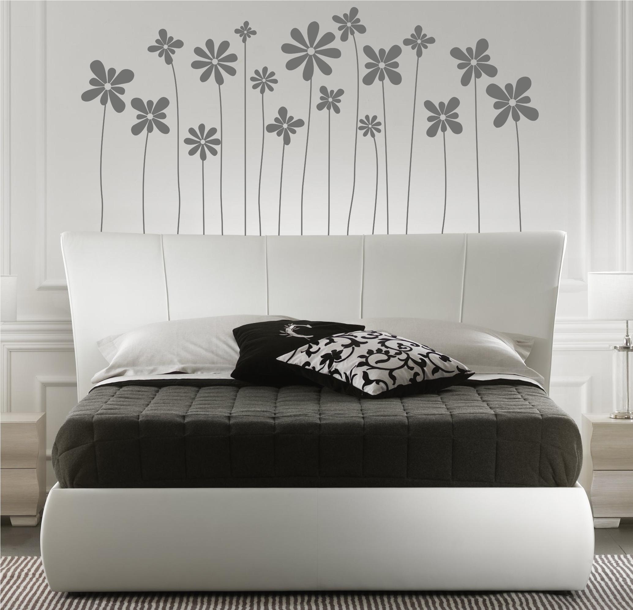 Vinilo decorativo de un cabecero de cama motivo floral 5 for Vinilos cabeceros