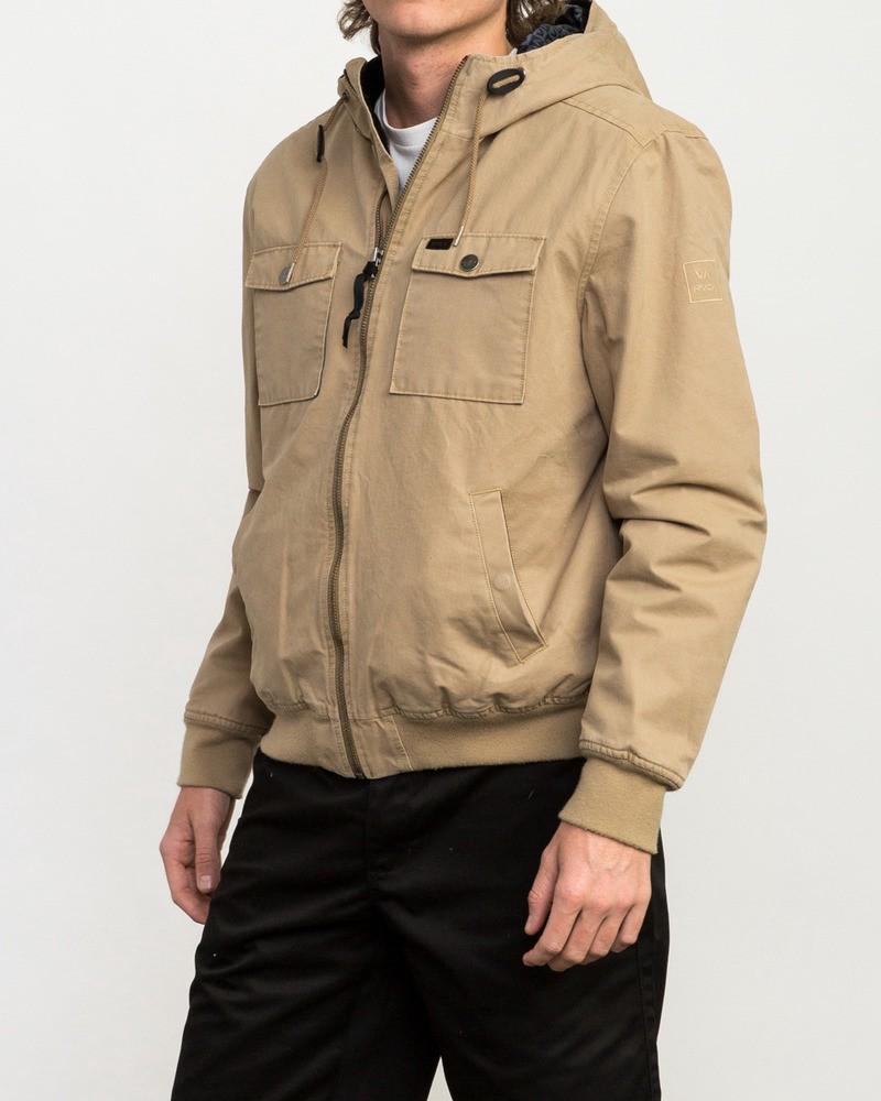 Rvca Hooded Bomber Ii Jacket Dark Sand Xxl Mens Lifestyle Jackets Rvca [ 1000 x 800 Pixel ]