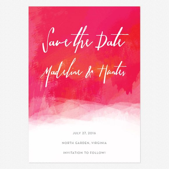 Watercolor Save the Date Postcards www.lovevsdesign.com