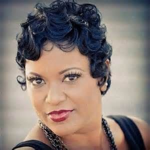 pin curl finger wave short cut mowhawk black women - Yahoo Search ...