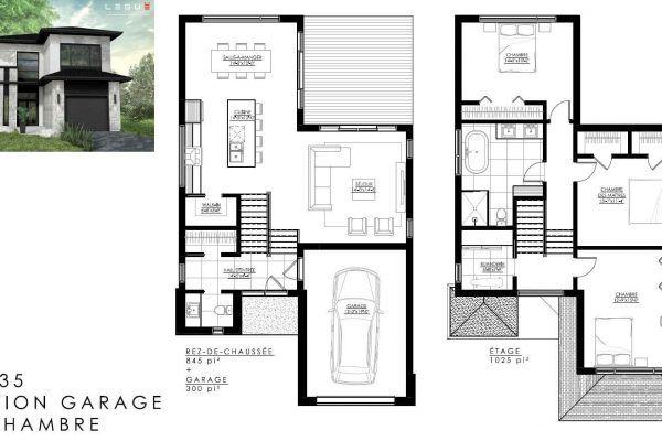 Plan de Maison Moderne Ë_135 Leguë Architecture Home Design