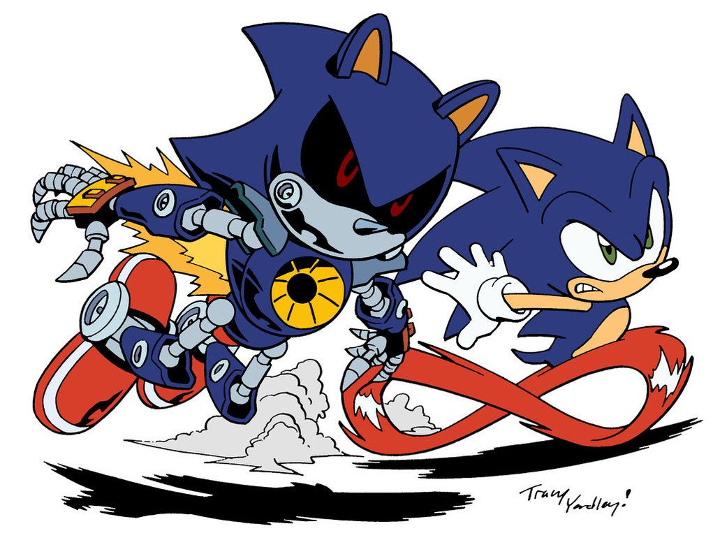 Sonic vs Metal Sonic by TheGraphicNovelist Sonic
