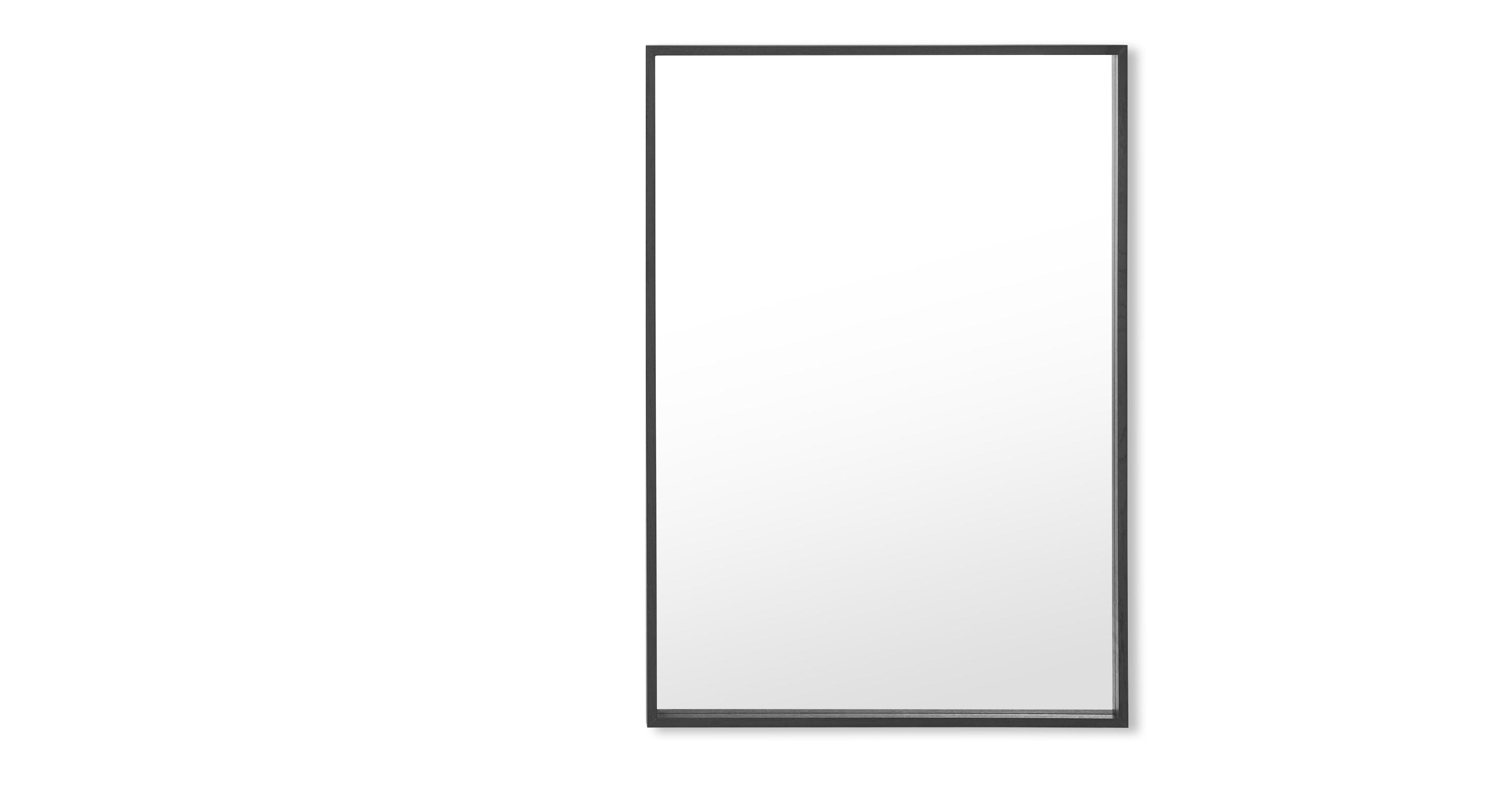 DESIGN Spiegel Wilson Wandspiegel 70 x 100 cm Schwarz