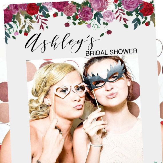 Bridal Shower Fotorahmen Prop  Aquarell Blumen Party Foto
