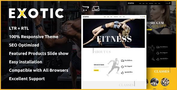 nice Exotic - Multipurpose OpenCart Theme (Health  Beauty - health history template