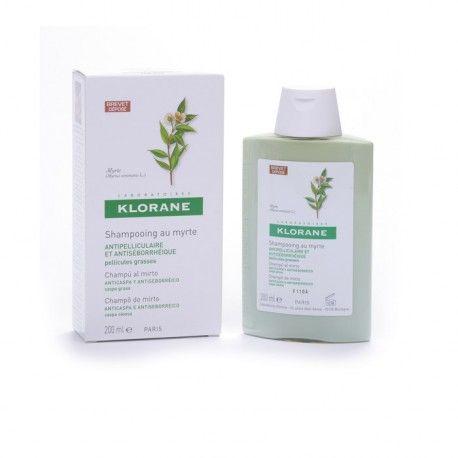 El champú tratando anticaspa grasa extracto de Mirto de Klorane regulariza las secreciones sebáceas, sanea el cuero cabelludo y ayuda a desprender las escamas adheridas. Proporciona volumen y brillo al cabello.