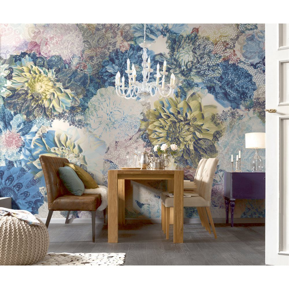 Lowes Wall Murals shop provincial wallcoverings 8-941 frisky flowers mural at lowe's