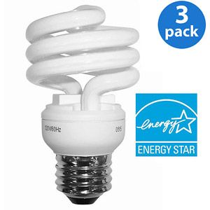 Ge Cfl 10wt Soft White Mini Spiral 6 Bulbs Walmartgreen Bulb Cfl Light Bulbs