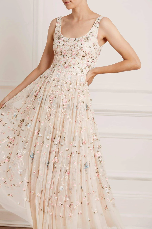 Regency Garden Ballerina Prom Dress In 2021 Floral Prom Dresses Prom Dresses Vintage Dresses [ 1501 x 1000 Pixel ]