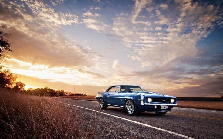 blue old classic car on the road hd wallpaper x old car wallpaper 4k – #4k #blue…