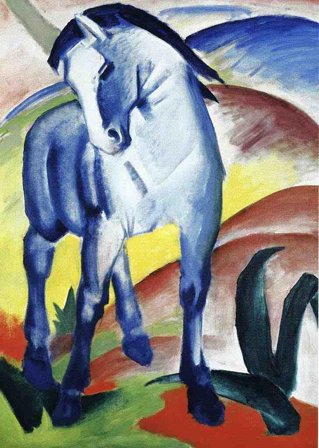 Der Blaue Reiter 1 Franz Marc Blue Horse Poster Art