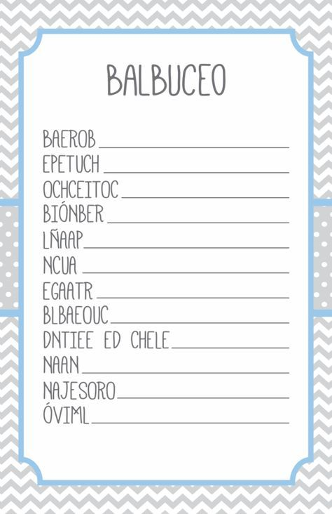 Baby Shower Juegos Pdf ~ Juegos para baby shower babies and pdf