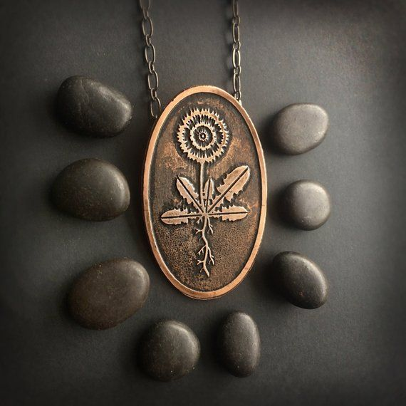 Dandelion Flower Necklace Wild Flower Inspired By Childhood Memories Of Dandelions And Their Healing Uses