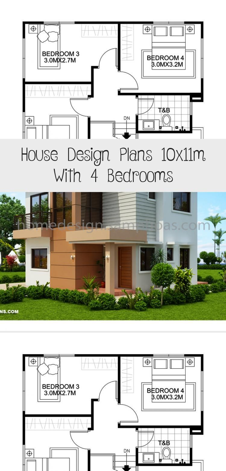 House Design Plans 10x11m With 4 Bedrooms Home Ideassearch Floorplans4bedroomvictorian Floorplans4bedrooms In 2020 Home Design Plans House Design Modern House Plan