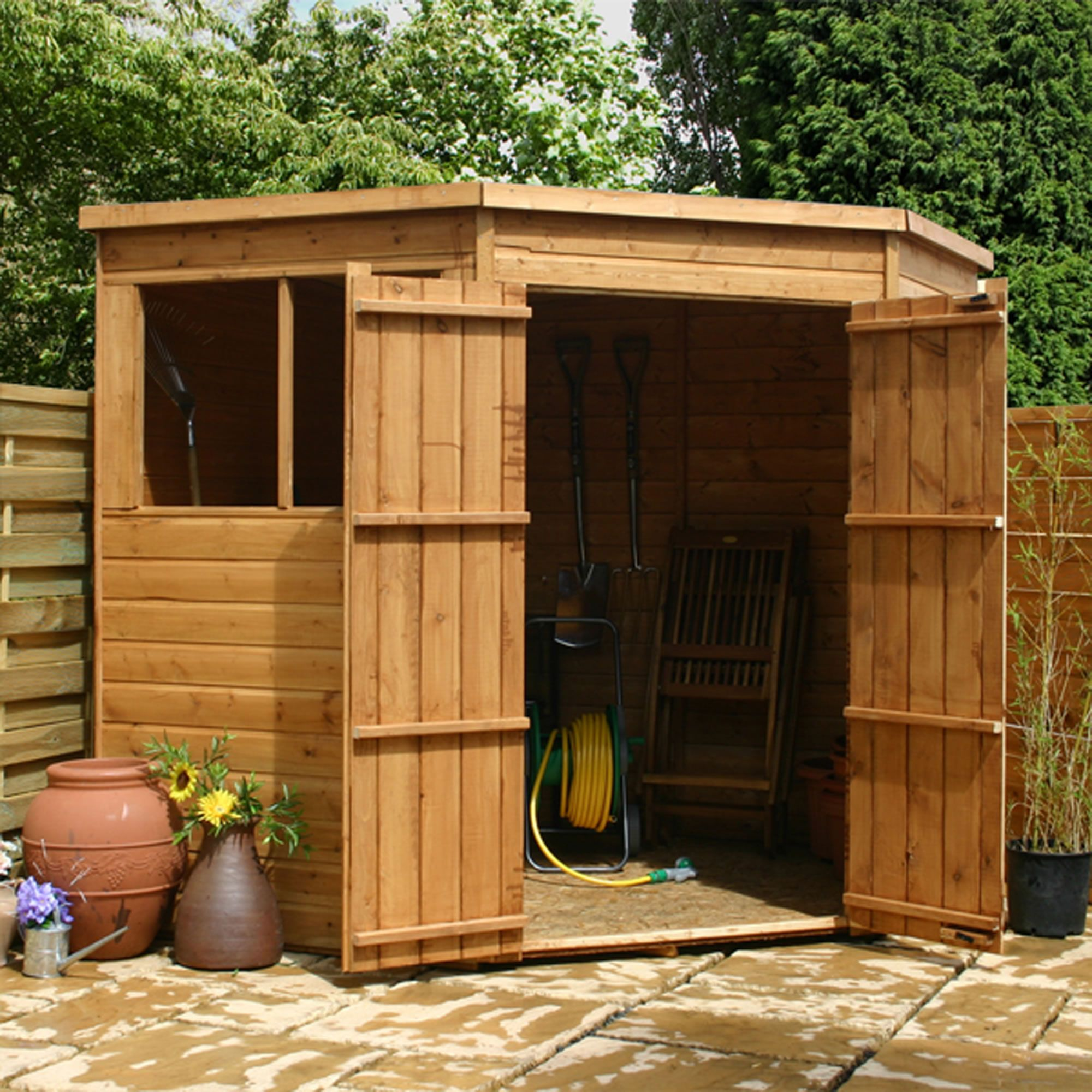 cotswold shiplap 7x7 corner shed