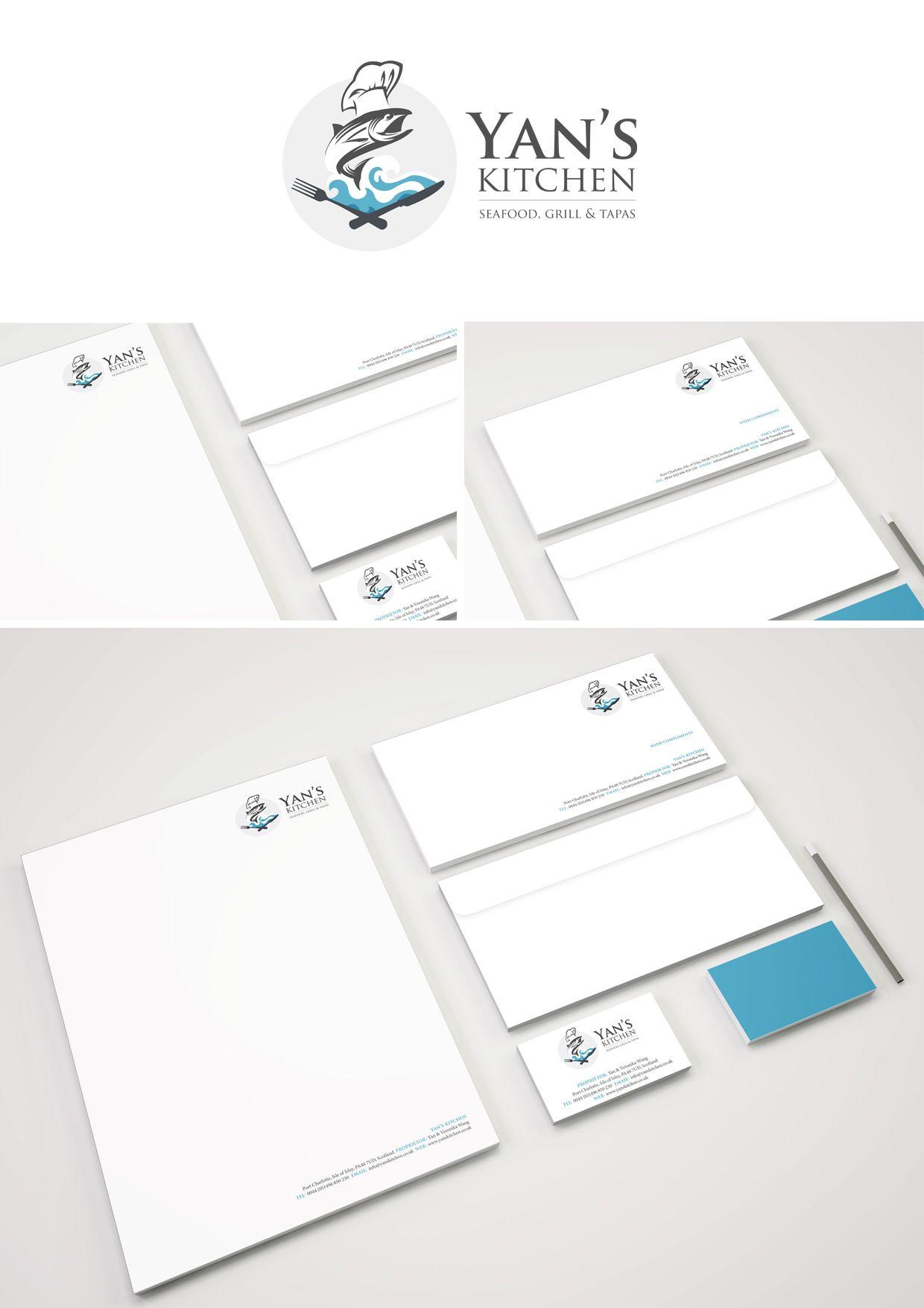 Yan S Kitchen Business Cards Letterheads Compliment Slips Compliment Slip Logo Design Branding