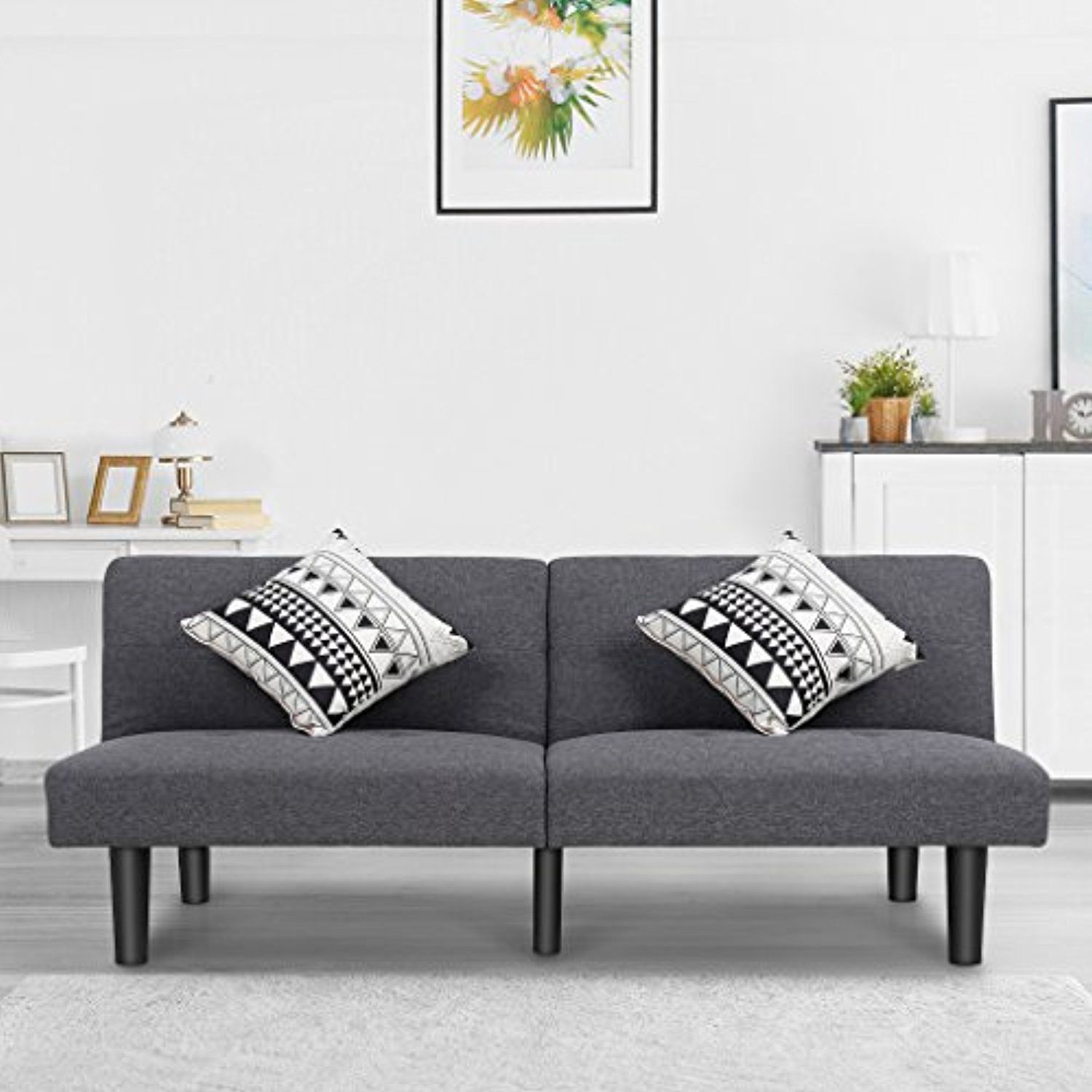 LANGRIA Modern Sofa Bed Upholstered with Soft Breathable