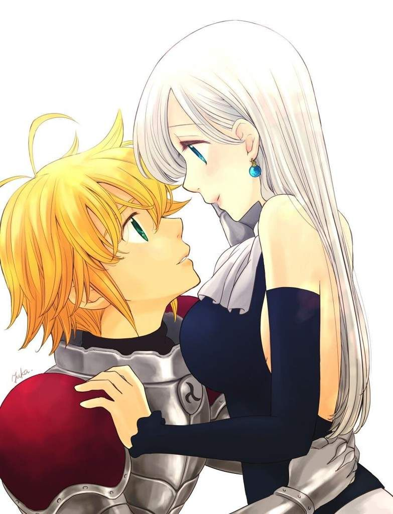 Photo of Dibujo de Elizabeth y Meliodas | •Anime• Amino