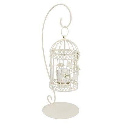 Birdcage Cream Hanging Tea Light Holder Wedding S J