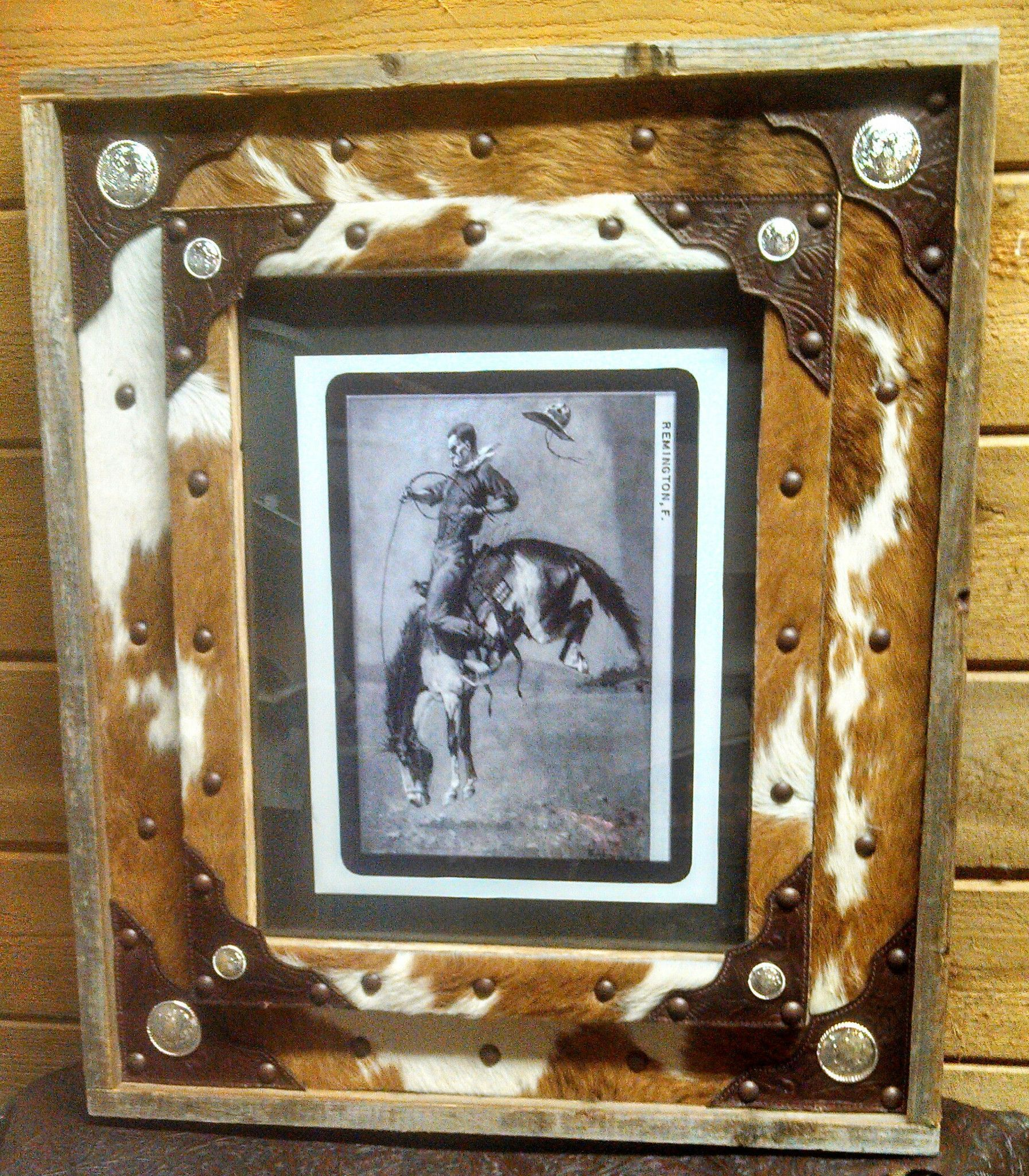 Frame Cowhide With Leather Corners Barnwood 11x14 Leather Picture Frames Frame Barn Wood