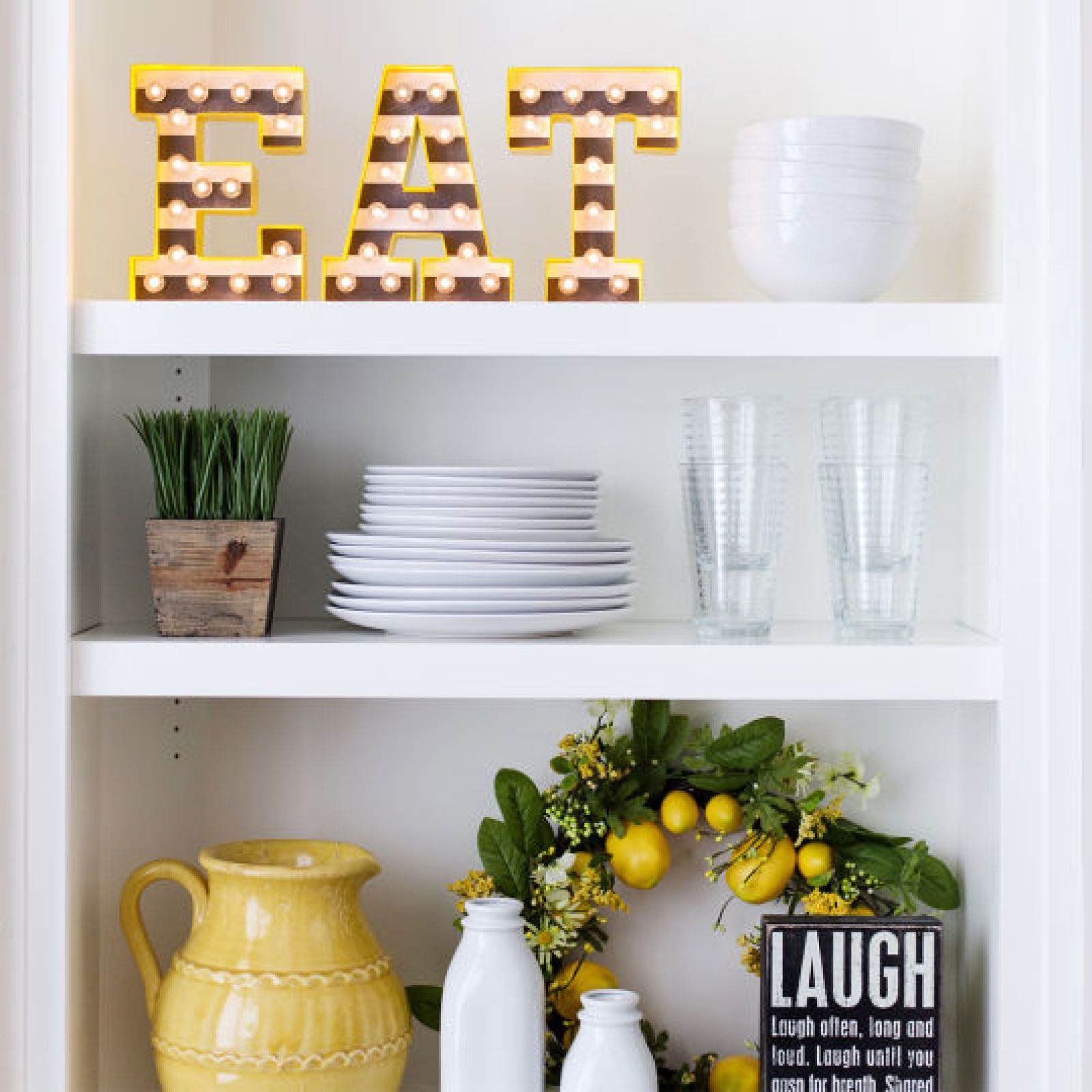 Light Up Kitchen Signs: Heidi Swapp™ Marquee Love® Letter Kit
