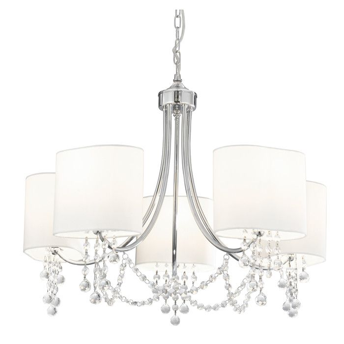 5 Light Shaded Chandelier In 2020 Chandelier Shades Ceiling Pendant Chandelier