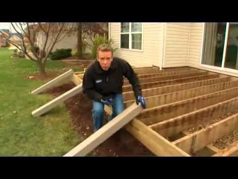 C mo instalar una terraza de material compuesto parte 1 - Tarima exterior sintetica ...