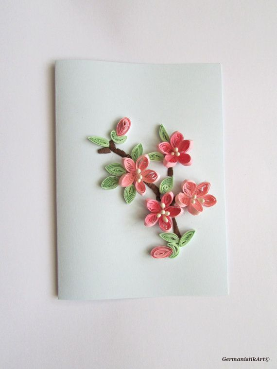 3d Flower Mother S Day Quilling Card Blank Birthday Greeting Gift
