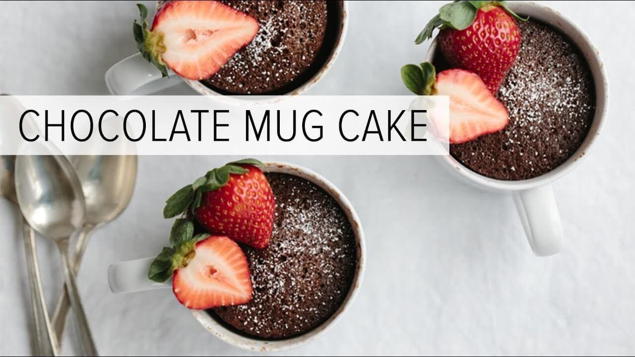 Chocolate Mug Cake Gluten Free Paleo Downshiftology