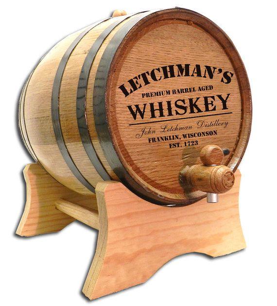 Free Ship 1 Liter Personalized Barrel Distillery Label Design
