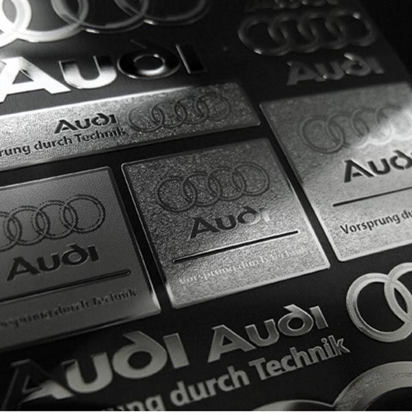 Car Metal Plate Stickers Decals for AUDI #AUDI