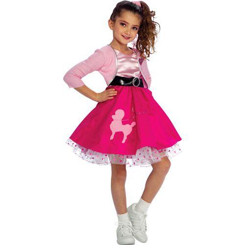 50s halloween costumes kids fifties girl child halloween costume halloween walmartcom - Walmart Costumes Halloween Kids
